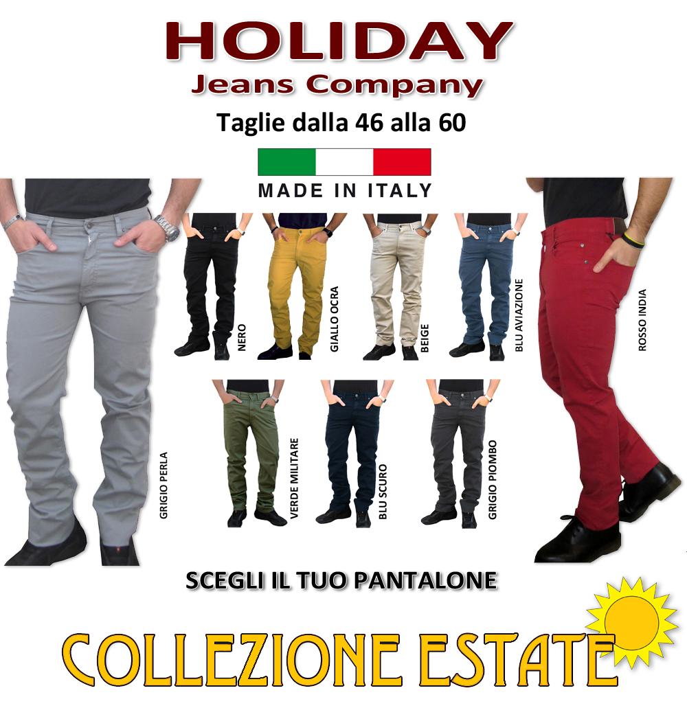 46 48 50 52 54 56 58 60 Holiday Jeans Pantalone Modello Etan Primaverile//Estivo Uomo Cotone TG